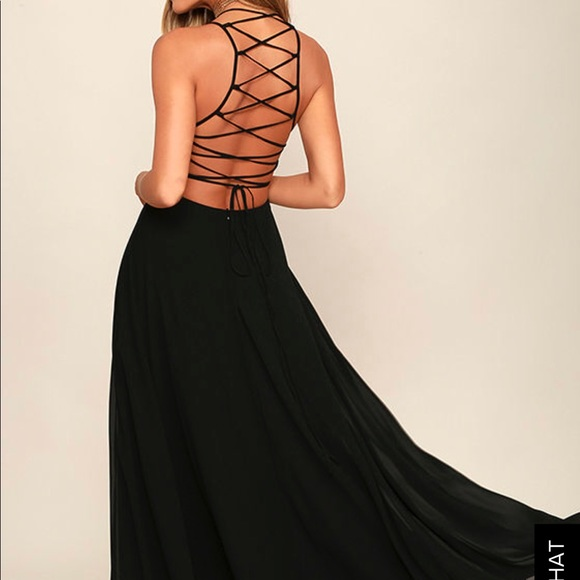Black Strappy Prom Dress